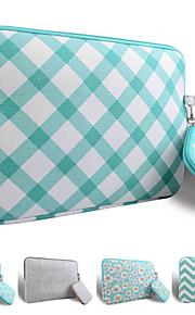smith Sursee ® tragen Laptop-Hülle Leinen 13-13,3 macbook pro (grün schräge Gitter)