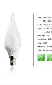 1 stk e14 / E12 5W 10pcs * 0.5W SMD 450 lm cusp dimmes stearinlys pærer