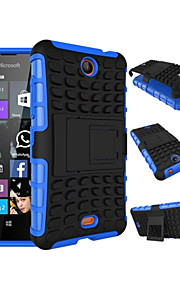 2 in 1 Dual-color Detachable PC+TPU Hybrid Case with Kickstand For Nokia Lumia 430 (Assorted Colors)
