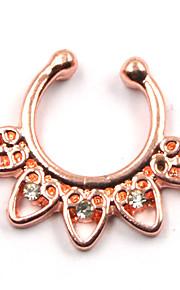 Chic Rhinestone Heart Fake Septum Nose Ring For Women