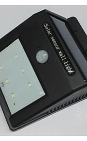 (2 stk) høy kvalitet solenergi 6 LED lys vanntett menneskekroppen induksjon lampe / vegglampe / hage gårdsplass utendørs lampe