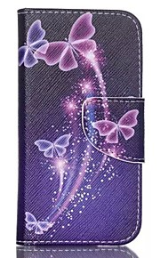 Colored Butterflies Painted PU Phone Case for ipod touch5/6