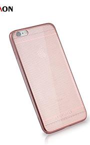 honeycomb elektroplet pc med tilbage tilfældet for iphone6 / 6s (assorterede farver)