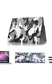 """4 в 1 камуфляж дизайн корпуса + клавиатура + крышка протектор экрана + крышка пыли разъем для MacBook Air 11 """"13"""" сетчатки / 15 """""""