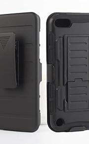 2 in 1 caso di disegno della pelle di plastica dura + silicone morbido esterno caso guscio interno per iPod touch 5 (colori assortiti)