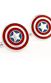 Captain America Stainless Steel Cufflinks Square Vintage Wedding Gift Graving Men's Groom Shirt Deluxe