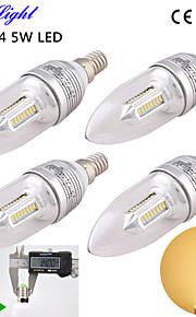 youoklight® 4stk e14 5W 400lm 32-smd2835 varm hvit tower form av høy kvalitet ledet stearinlys formet lampe ac110-240v
