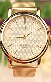 Dames Modieus horloge Kwarts Vrijetijdshorloge Roestvrij staal Band Polshorloge Goud