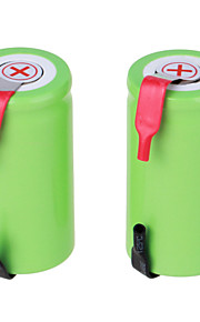 ni-cd 1.2v 2800mAh şarj edilebilir pil (2 adet) yeşil