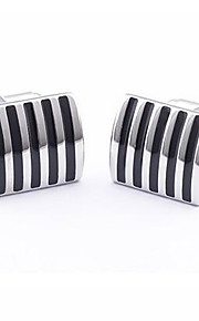 Unique Stripes Men's Wedding Cufflinks Shirt Suit Business Cuff Links