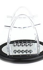Upgrade Transparent Reflection Mirror Newton's Cradle Balance Balls Science Pendulum Desktop Toy