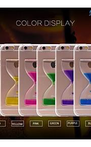 sanlead dobbelt-cup-dryp pc med gummi og sand væske tilbage tilfældet for iphone6 plus, 6s plus (assorterede farver)