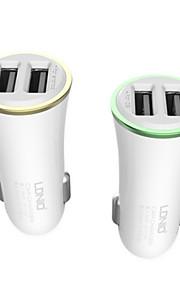ldnio 2 Dual USB caricabatteria da auto per iPhone / Samsung e l'altro cellulare (5v 3.4a)