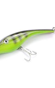 Mizugiwa Fishing Jerkbait Musky Pike Bass Lure Bait 140mm 34g 3D Eyes Color Green
