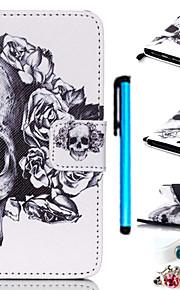 아이팟 터치 5 방진 플러그 스타일러스를 포함하여 색깔의 그림 PU 가죽 모바일 권총