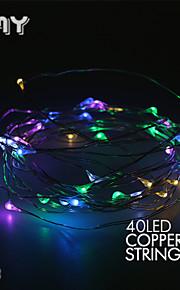 gmy אור מחרוזת חוט 4m40led הנחוש