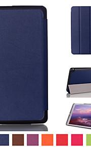 8 inch triple vouwpatroon hoge kwaliteit pu leer voor nvidia schild tablet k1 / schild tablet 8 (verschillende kleuren)