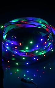 ikke-vanntett 3528 RGB LED stripe fleksibel lys 60led / m 5m 300 ledet smd dc 12v dekorasjon ledet stripe