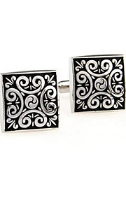 Vintage Square Mens Wedding Party Cufflinks Cuff Links Groom Bestman