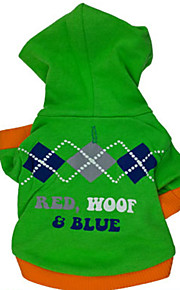 Hunde - Winter - Baumwolle - Modisch - Grün - Kapuzenshirts - XS / S / M / L