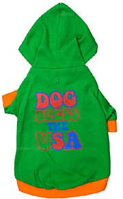 Hunde - Winter - Baumwolle - Wasserdicht / Modisch - Grün - Kapuzenshirts - XS / S / M / L