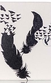 funda protectora patrón de diente de león de la pluma de cuero de la PU para la lengüeta 9.6 e T560