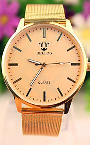 Męskie Modny Kwarcowy Stop Pasmo Zegarek na nadgarstek Złoty