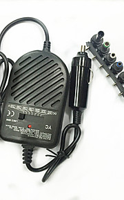 Universal 80W Car Cigarette Lighter Charger w 8 Adapters for Laptop - Black (DC 11~14V)