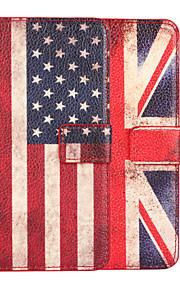 HTC의 M9에 대한 미국 또는 영국 국기 가죽 케이스 커버 지갑 카드 슬롯 케이스