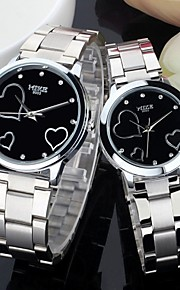 Masculino / Mulheres / Casal Relógio de Moda Quartz Lega Banda Prata marca-