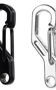 Outdoor Zinc Alloy Quick Release Keychain Carabiner - Black / Silver
