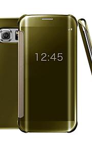 chiara visione caso di vibrazione UV specchio pc caso astuto della copertura dura del telefono per la galassia S7 + / bordo S7 / S7 / S6