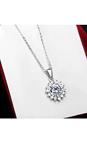 charmerende sølv blomst form kvinders pendents