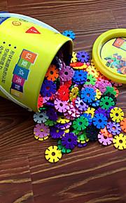 3.3cm snöflingor hink in byggstenar byggsats DIY leksaker (300pcs)