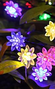 konge ro 20led lotus batteri ledet streng lys utendørs vanntett string lys (kl0011-rgb, hvit, varm hvit)
