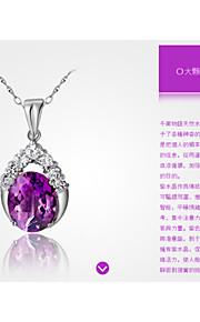 charmerende sølv fredens tegn kvinders pendents
