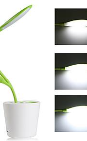 dimmes ledet bordlampe 3-nivå dimmer fleksibel bordlampe + 5v / 1a usb ladeport + anlegg penneholder (grønn)