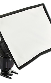 sidande 15x17cm bærbare fotografering mini flash diffuser softbox kit canon nikon samsung dslr speedlite flash