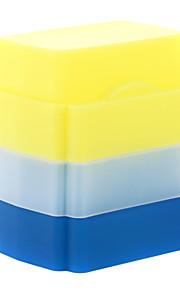 a2 silicium fleksibel flash bounce diffuser softbox hvid + gul + blå til Nikon SB700 / Nissin Di622 / di700 Sony HVL-f60am