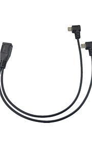 cwxuan® 1 micro usb femmina 2-micro dati USB maschio / cavo di ricarica