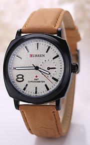 Masculino Relógio Esportivo Quartz Relógio Casual Couro Banda Relógio de Pulso Preta / Marrom