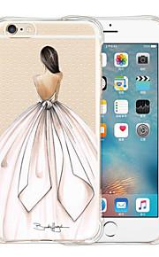 Voor iPhone 5 hoesje Schokbestendig / Transparant / Patroon hoesje Achterkantje hoesje Sexy dame Zacht Siliconen iPhone SE/5s/5