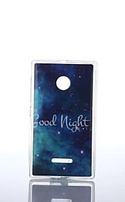 buen modelo noche TPU + soft IMD para Nokia Lumia N640 / n535 / N435