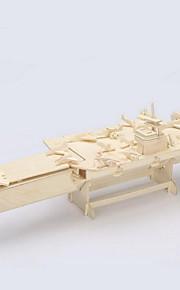 madeira porta-aviões 3d puzzles DIY brinquedos