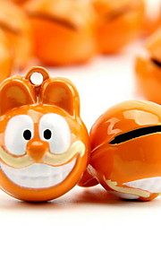 Garfield Cartoon Pure Copper Pet Pendant Bell(2 PCS 2cm)