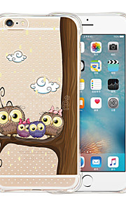 The Owl Family Soft Transparent Silicone Back Case for iPhone 6/6S (Assorted Colors)