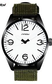 SINOBI marcas famosas esportes masculinos relógios de pulso cinta de nylon para o luxo mens assistir quartzo-relógio militar 2016 relógio