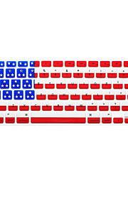 della bandiera nazionale in lingua inglese pelle della copertura della tastiera del silicone per MacBook Air / MacBook Pro 13 15 17 noi