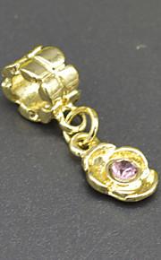DIY beaded halskæde armbånd øreringe tilbehør 18 plating guld indlagt cz hac0066 mode blomst ornamenter