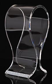 stand de matière acrylique populaire pour casque tranparent